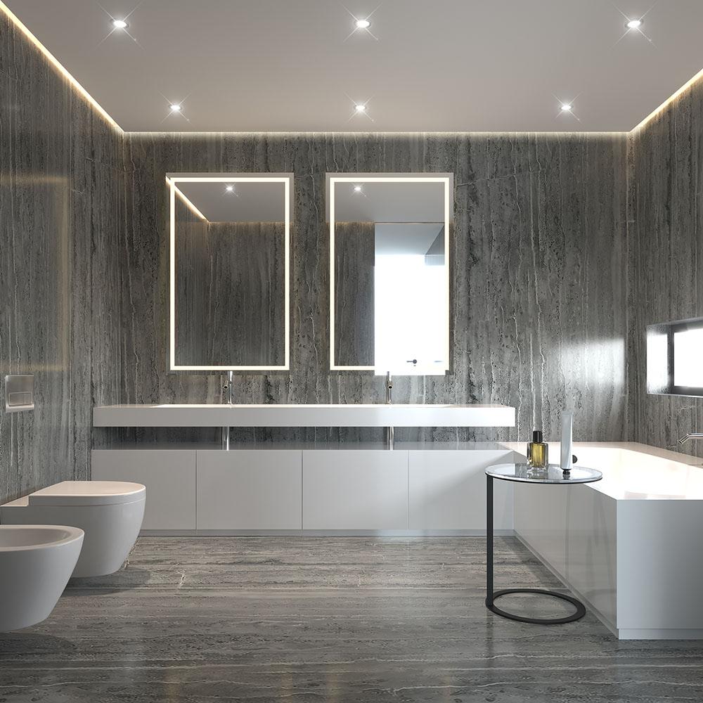 Modernes Bad Fliesen Höhe